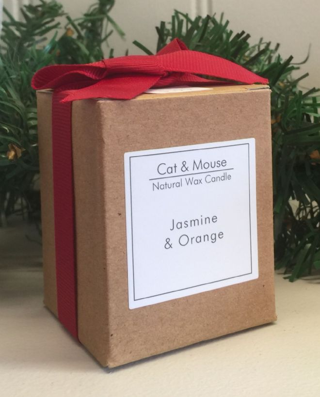 Scented Candle  9cl in a Gift Box - Jasmine & Orange